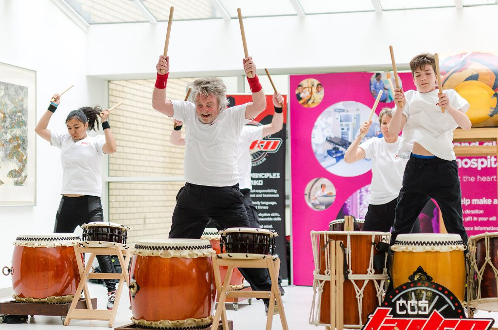 Peter Hewitt leading CSS Taiko in a performance
